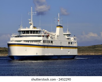 Passenger ship carrying cargo & vehicles between the islands of Malta and Gozo