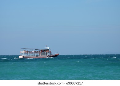 Passenger Ship on the sea at Koh Larn, Pattaya, Thailand