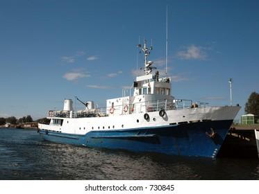 Passenger ship in Solovetskiy island