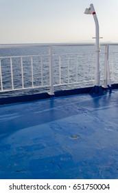 Passenger ship's deck and manifold