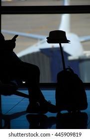 Passenger tourist at airport travel concept