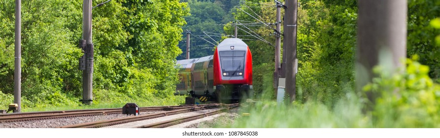 passenger train in the countryside