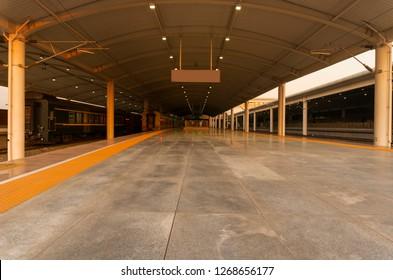 Passenger Train At The Railway Station