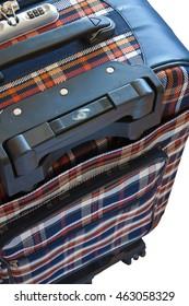 Passenger travel suitcase isolated on white background