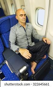 passenger traveler in airplane