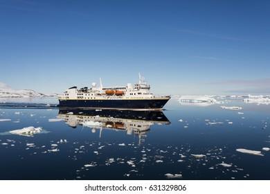 Passenger vessel in antarctica