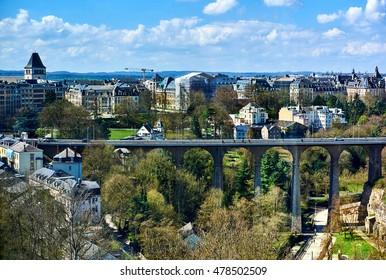 Passerelle Bridge in Luxembourg City. Luxembourg, Western Europe