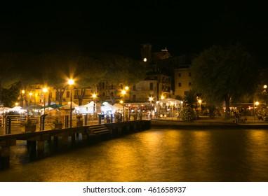 PASSIGNANO SUL TRASIMENO, ITALY - JULY 31, 2016: Palio delle barche celebration in Passignano sul Trasimeno.