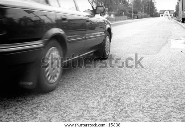Passing car