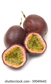 passion fruit and cut open