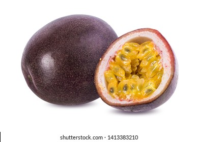 Passion fruit isolated on a white background
