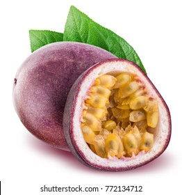 Passion fruit isolated on white background  with clipping path