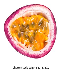 Passion fruit, maracuya, granadilla isolated with clipping path