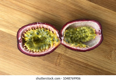 Passion Fruit Sliced Open