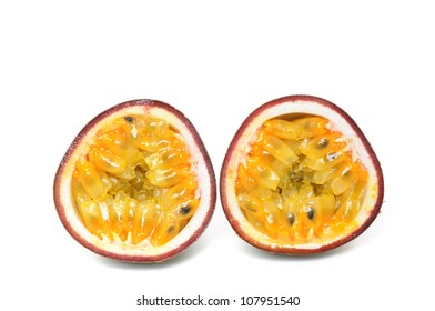 Passion fruit in a studio shot