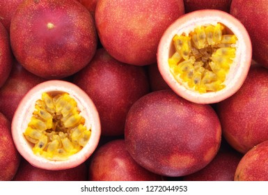 Passion fruits background