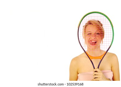 Passion for tennis - A young girl with her tennis racket