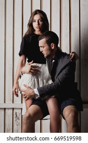 Passionate beautiful fashion couple