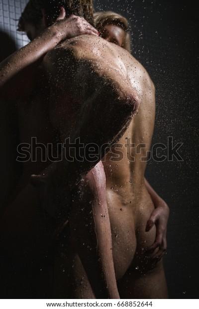 Couple Having Sex Shower