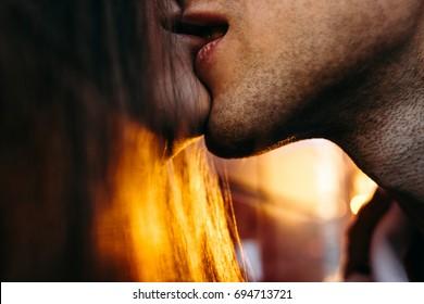 passionate kiss couple