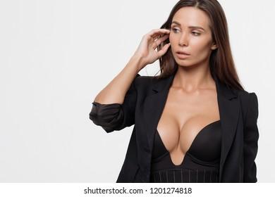 e3f8960e406f Passionate lady with deep neckline