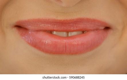 Passionate lips feminine.