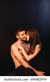 Passionate young couple together