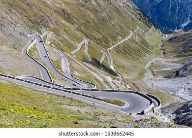 Passo dello Stelvio in South Tyrol, Italy