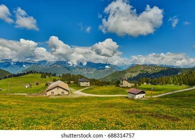 Passo Tremalzo,Trails to Passo Tremalzo, Lago di Garda region, Italy, Italian Dolomites-panoramic views from the Tremalzo mountains