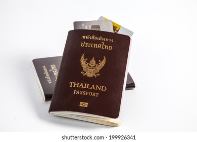 Passport and credit card ready to travel
