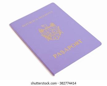 Passport document id from the republic of Moldova vintage