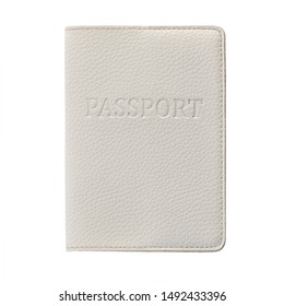 Passport isolated on white background. Travel document, citizenship proof and identification.