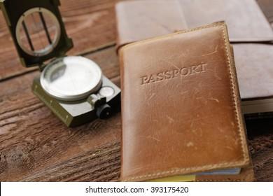 Passport, Journal, and Map