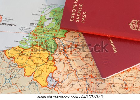 Passport Map Part Middle Europe Stock Photo Edit Now 640576360