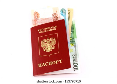 Passport with the money invested