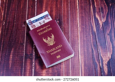 passport with money for travel