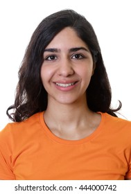 Passport photo of a young arabic woman