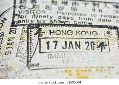 passport stamps from hong kong without any year