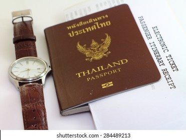 Passport and travel business , tourist ticket