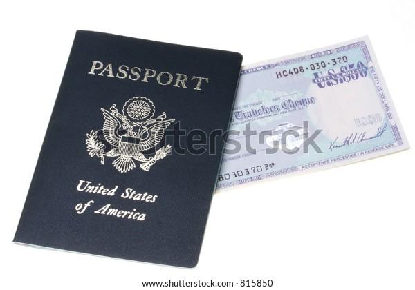 Passport and Travelers Cheque