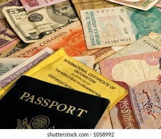 Passport and world money