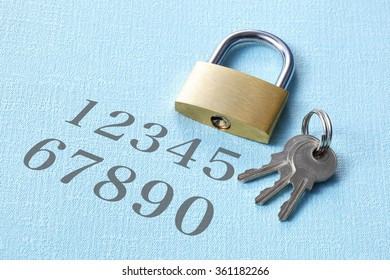 Password number image