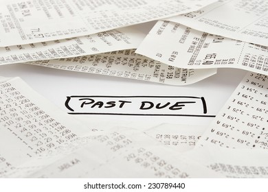 Past due bills to be paid on expenses