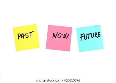Past, present and future concept