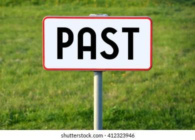 Past signpost