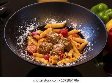 Pasta Al Arrabiata with rich spicy tomato