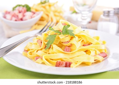 pasta and bacon