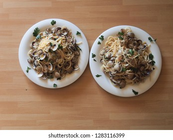 Pasta with clams Spaghetti alle Vongole