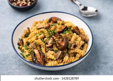 pasta fusilli with Mushroom in Herb sauce