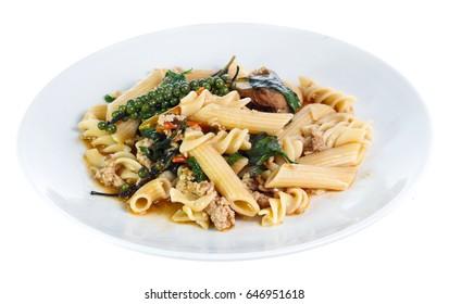pasta isolated on white